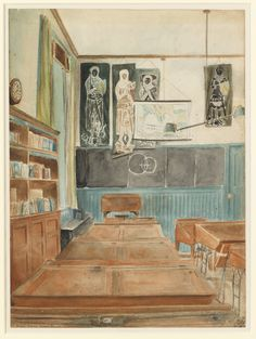 The Boys' 5th Form Classroom, Edward Bawden