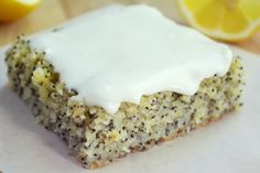 Lemon Poppy Seed Squares by theviewfromthegreatisland