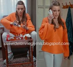 Medcezir - Mira (Serenay Sarıkaya), H&M Orange Sweater