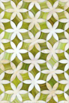 Fiona glass mosaic backsplash
