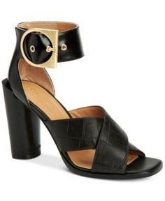 Calvin Klein Women's Alivia Ankle-Strap Sandals - Black 9.5M