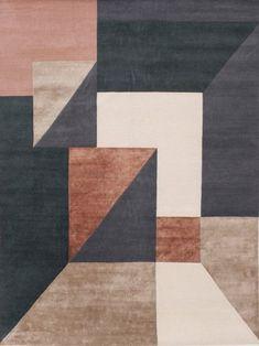 Trisquare rose cloak rug