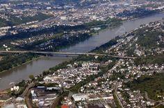 Die Europa-Autobahn-Brücke im Süden von Koblenz
