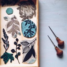 mipluseddesign:  maybe I've found a way to storage some of my hand carved stamps. how do you store yours fellow printmakers? #printmaker