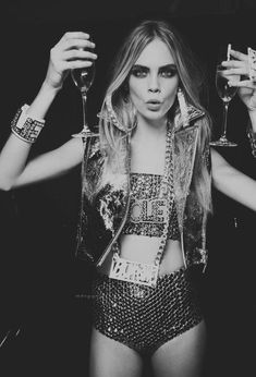 cara delevingne Champagne, Party, Model, Fashion, Photography