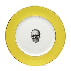 Melody Rose Yellow Skull Dinner Plate | Melody Rose London