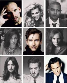 The faces of Doctor Who