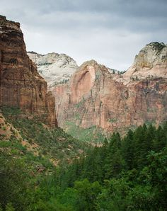The Virgin River Valley, Zion National Park Utah