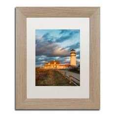 Michael Blanchette Photography 'Windy Point' Matted Framed Art