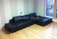 Leather L-Shape Sofa - Max9003A