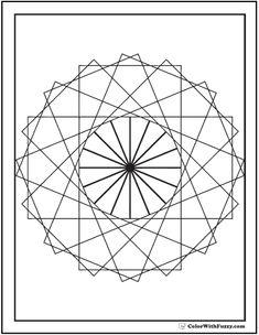 Geometric Coloring Pages To Print And Customize  Geometric