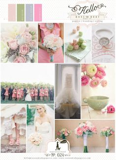 Pastel spring wedding inspiration. Pink succulent green and palest blue. Love the colour scheme!