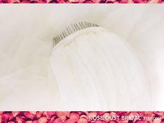 One layer Wedding bride veil white australian handmade veil with metal comb
