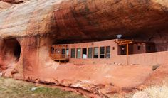 Cliff Haven is a humble off-grid home nestled right into the side of a canyon wall in Utah and it's up for auction later this month.