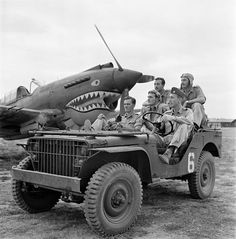 P40's pilot gets picked up on arrival at this air base for some much needed rest and relaxation