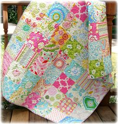 Baby Girl Quilt Modern Girly Mixture Custom by CarleneWestberg,ideas for mom