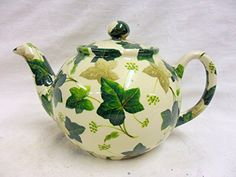 Teapot for 2 cups maple design ivy Heron Cross Pottery.