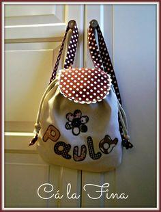 Mochila de guardería personalizada para Paula. #mochilasdeguarderia #mochilaspersonalizadas #mochilasinfantiles