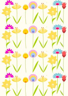 Free digital floral summer scrapbooking paper - ausdruckbares Geschenkpapier - freebie | MeinLilaPark – DIY printables and downloads