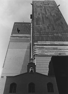 World Trade Center under construction ca. 1970 / Collection of the 9/11 Memorial Museum, Gift of David Bream