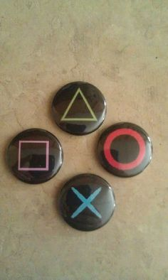 PlayStation Buttons by ChibiTsubame on Etsy