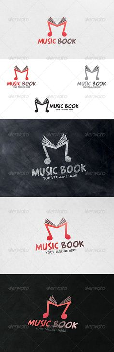 Music Book Logo Template — Vector EPS #note book #classical music • Available here → https://graphicriver.net/item/music-book-logo-template/6335537?ref=pxcr