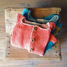 Well used #babaà Cardigans / many beautiful colours NOW in our shop #babaà #PureSpanishCotton