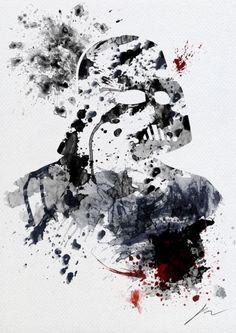 Arian Noveir's Splatter paint Star Wars Poster - Darth Vader