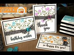 This video shows you how to use Tombow or Zig Clean Color Markers with ink pads to create a beautiful watercolor texture on solid flower images! Stamp Tv, Card Tutorials, Video Tutorials, Flower Images, Ink Pads, Craft Videos, Greeting Cards Handmade, Homemade Cards, Making Ideas