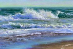 Ocean Scenes, Beach Scenes, Ocean Art, Ocean Waves, Seascape Paintings, Landscape Paintings, Large Painting, Beach Art, Scenery