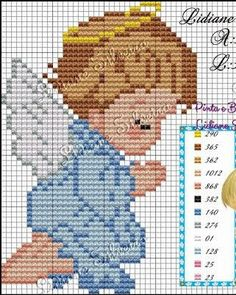Cross Stitch Angels, Cross Stitch For Kids, Cross Stitch Bookmarks, Cute Cross Stitch, Cross Stitch Rose, Cross Stitch Alphabet, Cross Stitching, Cross Stitch Embroidery, Cross Stitch Patterns