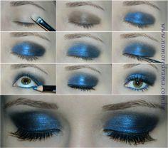 Tutorial de Maquiagem: Azul e Preto - http://www.nomoredrama.com.br/tutorial-de-maquiagem-azul-preto