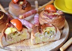 Mic dejun fara gluten – painici umplute cu omleta