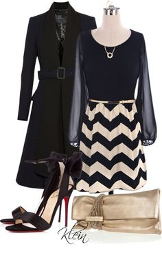 """""""Chevron Dress"""" by stacy-klein on Polyvore"""
