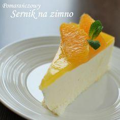 Pomarańczowy sernik za zimno
