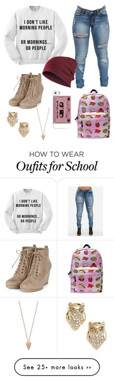 """""""Going to School"""" by alnevius on Polyvore featuring Kate Spade and Pamela Love"""