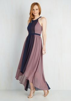 Peachy Queen Dress in Berry. Feel like royalty in this airy colorblocked maxi - a ModCloth exclusive! #purple #wedding #bridesmaid #modcloth