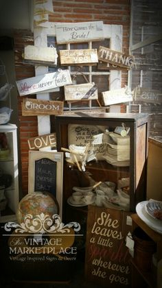 Wedding signs.... The Vintage Marketplace Springfield,  Oregon