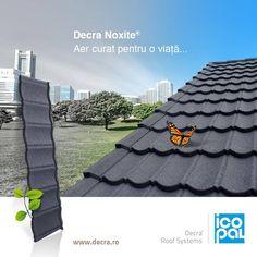 Decra NOXITE® este singurul acoperiș eco-activ din lume! Cum acționează Decra NOXITE® pentru a purifica aerul, aflați aici: http://www.decra.ro/produse/decra-noxite.aspx