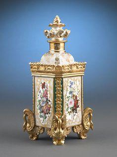Antique Porcelain, French Perfume Bottle, Jacob Petit ~ M.S. Rau Antiques