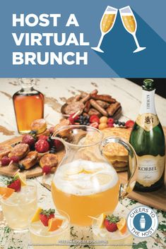Keep your Mother's Day or weekend brunch with your besties on the calendar. Here's how to host a virtual brunch - free printable included Brunch Recipes, Breakfast Recipes, Vegan Recipes Easy, Cooking Recipes, Cheers, Alcohol Drink Recipes, Brunch Party, Breakfast Time, Pampered Chef