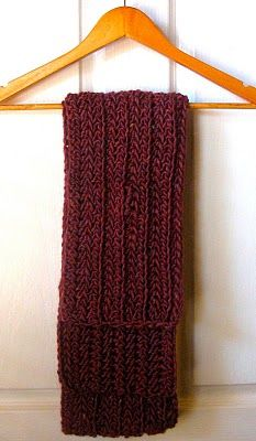 ribbed scarf (crochet) @Michelle Flynn Farris ... this is what I used for Abrams scarf