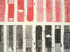 Hannah Waldron: London skyscrapers, detail