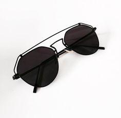 * Amazing statement reflectors in black * Feature metal line across top Eyewear, Sunglasses, Metal, Black, Eyeglasses, Black People, Metals, Sunnies, Shades