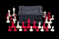 AN EARLY JAQUES STAUNTON OF LONDON IVORY ANTIQUE CHESS SET. Previously on sale at ADAM'S. www.adams.ie