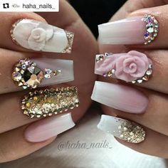 I used soft white and moscato rose from and pink champagne from . AB Swarovski crystals from and rose gold swarovskis from