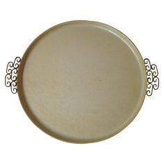 Cool handles. Round Moire Glaze Tray on Chairish.com