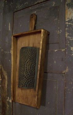 love the wooden piece with the old grater