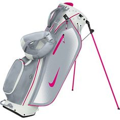 New from Nike Golf is the Sport Lite Stand Bag.Nike Golf have designed the Sport Lite stand bag to comfortable, stylish, practical and functional.The Sport Lite stand bag will make it easier for yo. Ladies Golf Clubs, Ladies Golf Bags, Best Golf Clubs, Nike Womens Golf, Nike Golf, Women Nike, Golf 6, Play Golf, Golf Attire