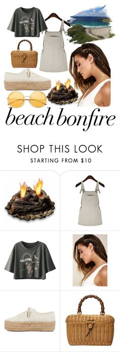 """Untitled #11"" by rebeccahampson ❤ liked on Polyvore featuring Real Flame, LULUS, Superga and Gucci"